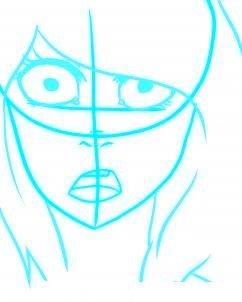 dessiner un visage etonne - etape 3