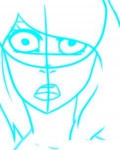 dessiner un visage etonne - etape 4