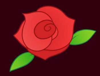dessin de rose rouge terminé terminé