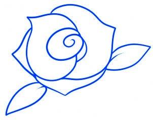 dessiner une rose rouge - etape 7