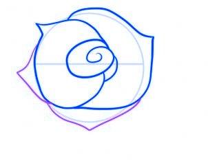 dessiner une rose rouge - etape 5