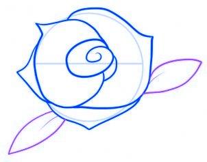 dessiner une rose rouge - etape 6