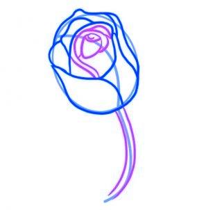 dessiner une rose rouge - etape 4