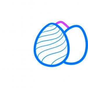 dessiner des oeufs de paques - etape 4