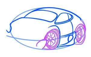 dessiner une voiture - etape 4