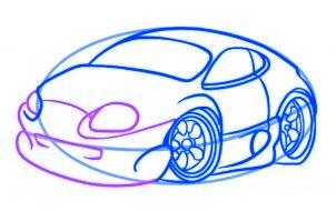 dessiner une voiture - etape 5