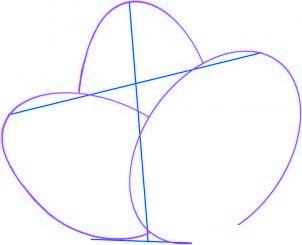 dessiner des oeufs de paques - etape 2