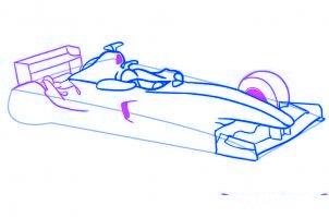 dessiner une voiture de Formule 1 - etape 4