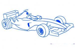 dessiner une voiture de Formule 1 - etape 6