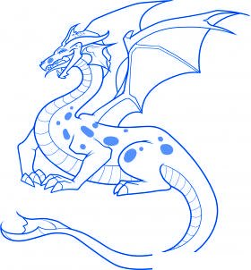 comment dessiner un dragon - etape 10