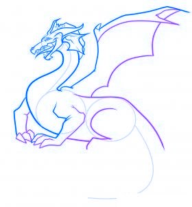 comment dessiner un dragon - etape 7
