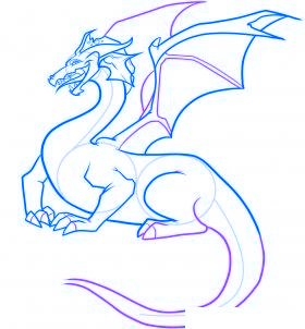 comment dessiner un dragon - etape 8