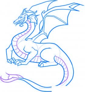 comment dessiner un dragon - etape 9