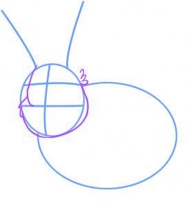 comment dessiner un lapin - etape 2