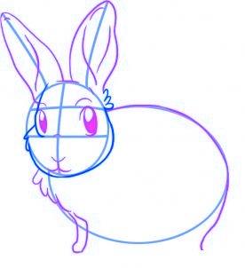 comment dessiner un lapin - etape 3