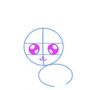 dessiner un lapin - etape 2