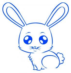 dessiner un lapin - etape 6