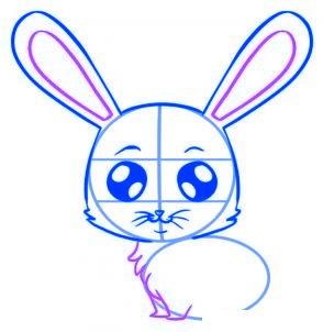 Comment dessiner un lapin de cartoon allodessin - Lapin facile a dessiner ...