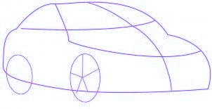 dessiner une voiture Mercedes Benz - etape 1