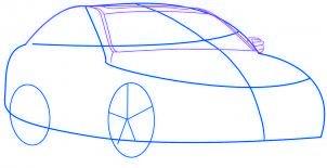 dessiner une voiture Mercedes Benz - etape 2