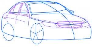 dessiner une voiture Mercedes Benz - etape 3