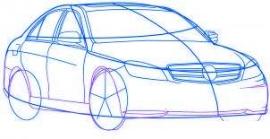 dessiner une voiture Mercedes Benz - etape 4