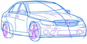 dessiner une voiture Mercedes Benz - etape 5