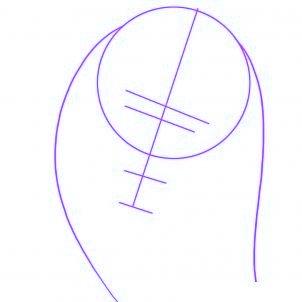 dessiner bob marley - etape 1