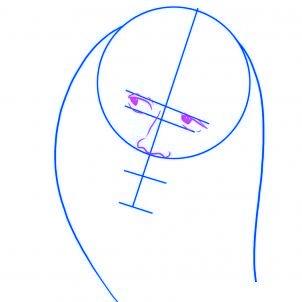 dessiner bob marley - etape 2