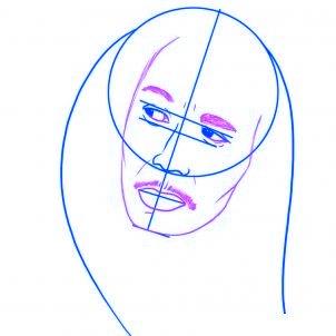 dessiner bob marley - etape 3