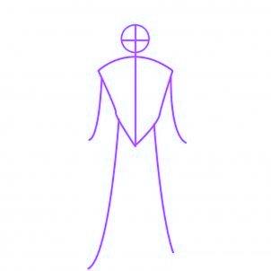 dessiner sangohan de drabon ball z - etape 1