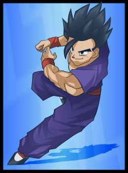 dessin de Sangohan de Dragon Ball Z termine terminé