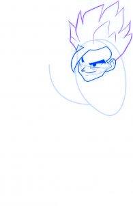 dessiner sangohan de dragon ball z - etape 4