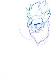dessiner sangohan de dragon ball z - etape 5