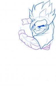 dessiner sangohan de dragon ball z - etape 6