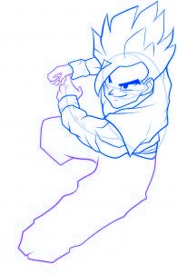 dessiner sangohan de dragon ball z - etape 7