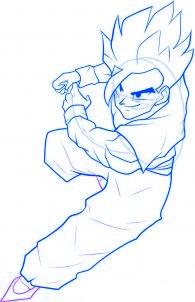 dessiner sangohan de dragon ball z - etape 8