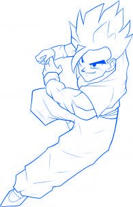 dessiner sangohan de dragon ball z - etape 9