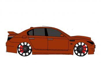 dessin de voiture BMW M5 tuning terminé