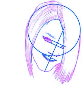 dessiner rihanna - etape 3