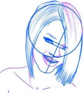 dessiner rihanna - etape 4
