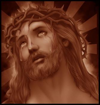 dessin de jesus termine terminé
