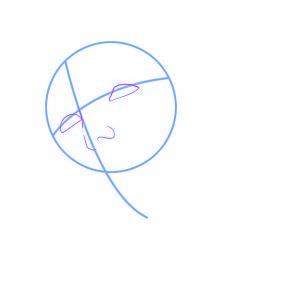 dessiner jesus - etape 2