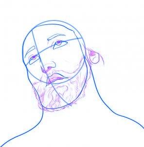 dessiner jesus - etape 4