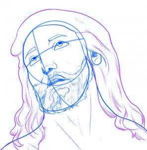dessiner jesus - etape 5