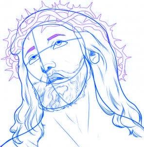 dessiner jesus - etape 6