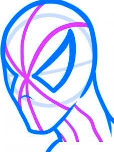 dessiner spiderman - etape 5