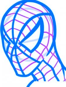 dessiner spiderman - etape 6
