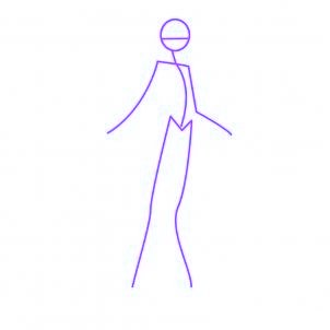 dessiner flora des winx - etape 1