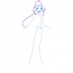 dessiner flora des winx - etape 5